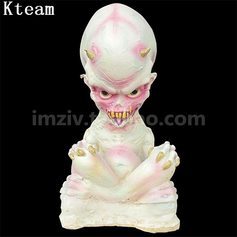 Halloween Decoration Scary Bloody Alien Baby Prank Toy Nail Through - scary halloween props