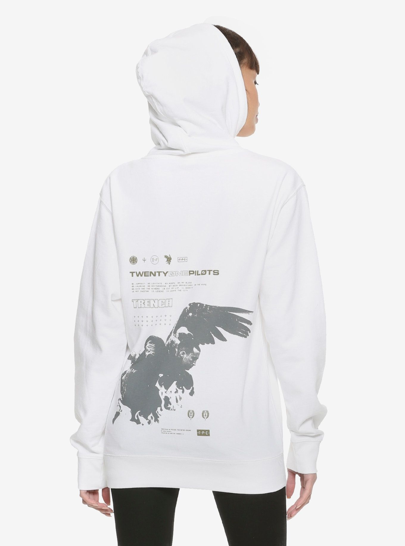b453755198a Twenty One Pilots Wings Girls Hoodie Hot Topic Exclusive