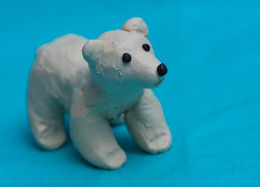 лепка медведь фото