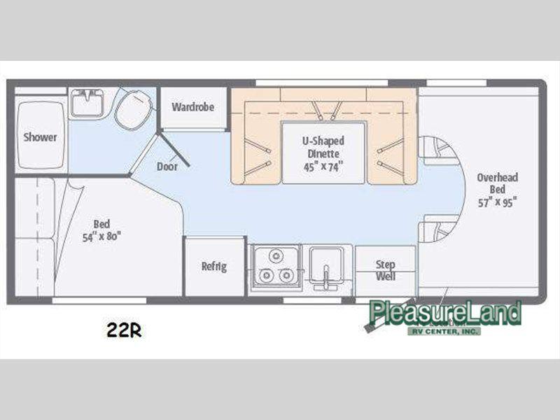 Used 2015 Itasca Spirit 22r Motor Home Class C Rv Floor Plans Winnebago Minnie Winnebago