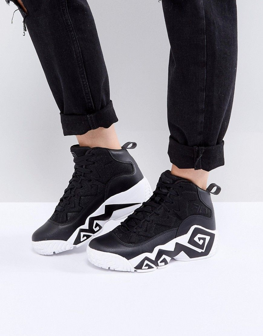 5f85070a5ff Fila Mb Mesh High Top Sneakers In Black | Shoes | Sneakers, Shoes ...