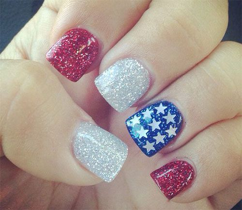 15 4th of july acrylic nail art designs 2016 fourth of july nails check out this assortment of awesome of july acrylic nail art designs ideas of these are some cute designs that you would love to apply on your nails prinsesfo Choice Image