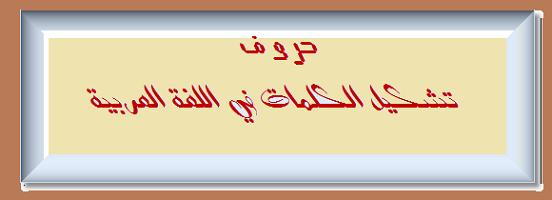 تشكيل الكلمات في اللغة العربية