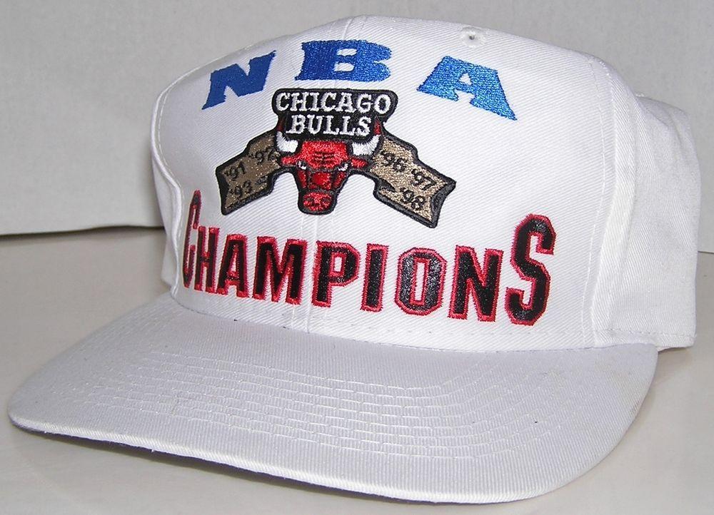 9cb7abd5caa3 Chicago Bulls NBA Champions Basketball Vintage 90 s Logo 7 Snapback Hat   Logo7  ChicagoBulls