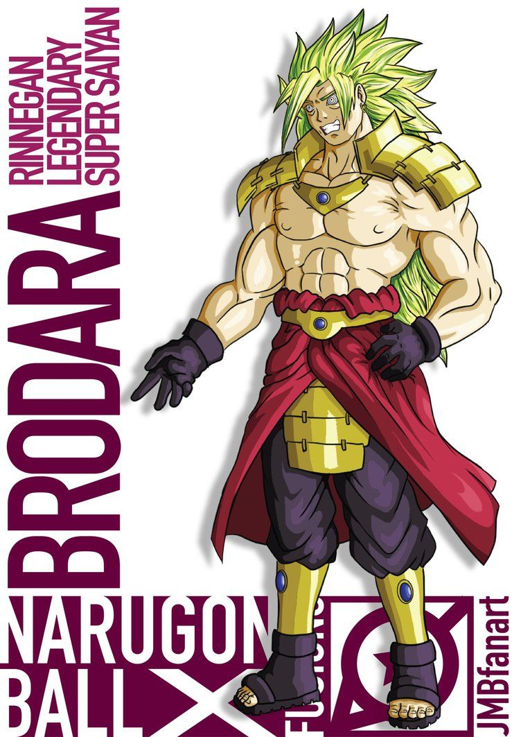 Brodara rinnegan lssj madara and broly fusion by - Dbz fantasy anime ...