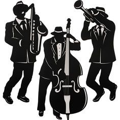 Jazz Musician Silhouette Cutouts <b>musicians</b>, <b>music</b> genre and <b>jazz</b> on pinterest