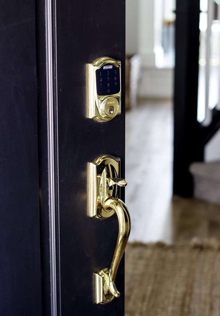 Schlage Passage Handlesets Are The Perfect Companion To Any Deadbolt We Ve Paired These With Electronic Deadbol Front Door Hardware Door Hardware Door Handles