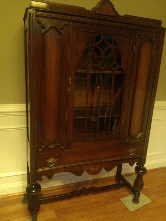 1940's Mahogany China Cabinet; very good condition, ornate. $100 (negotiable)