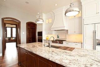 Love the backsplash and niche behind the stove, and the granite