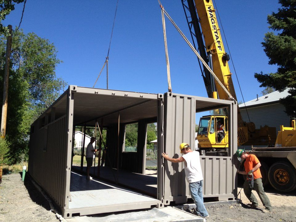 The Sarah House Project is a mostly one-man effort to build a small home out of two 8 by 40-foot shipping containers.