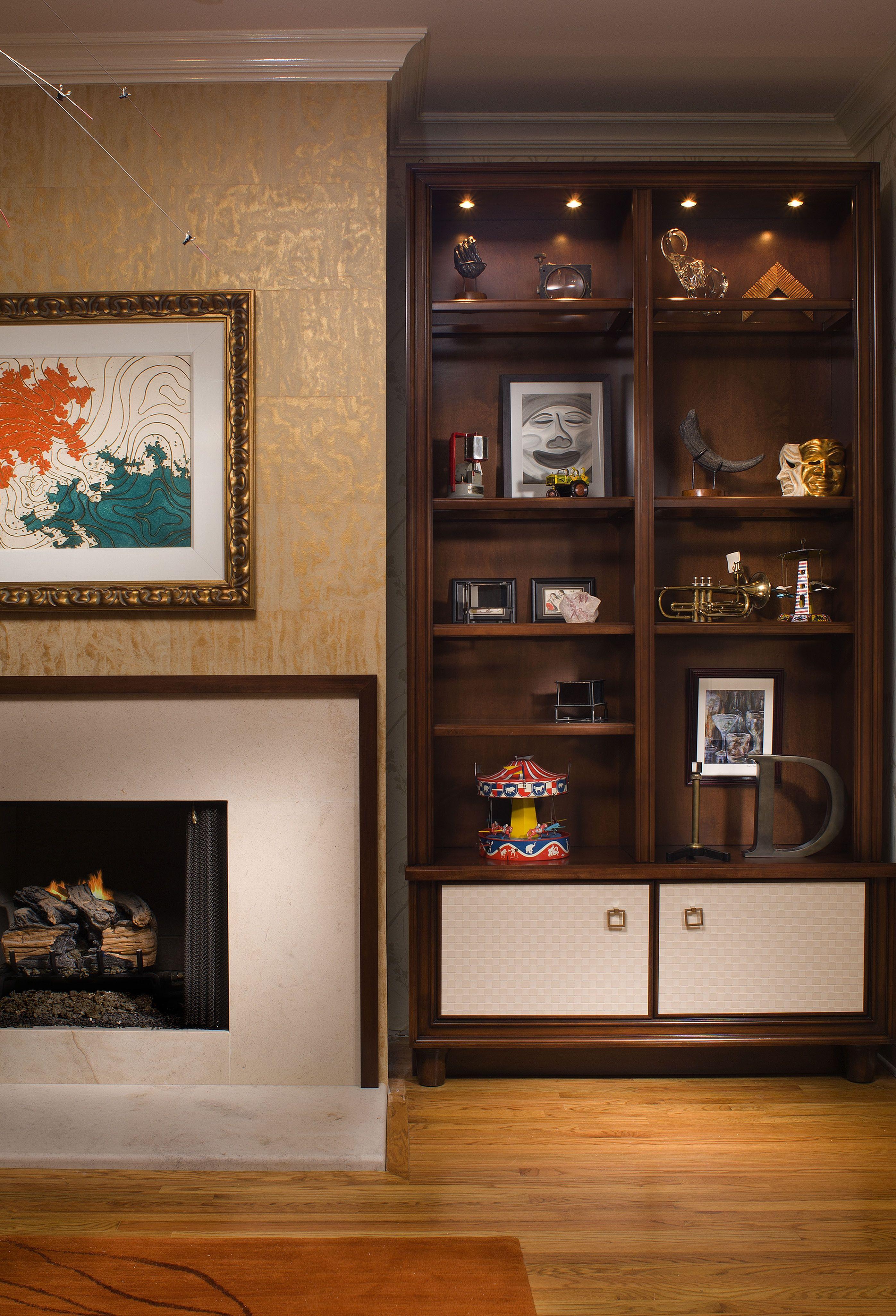 Design Of Living Room Showcase