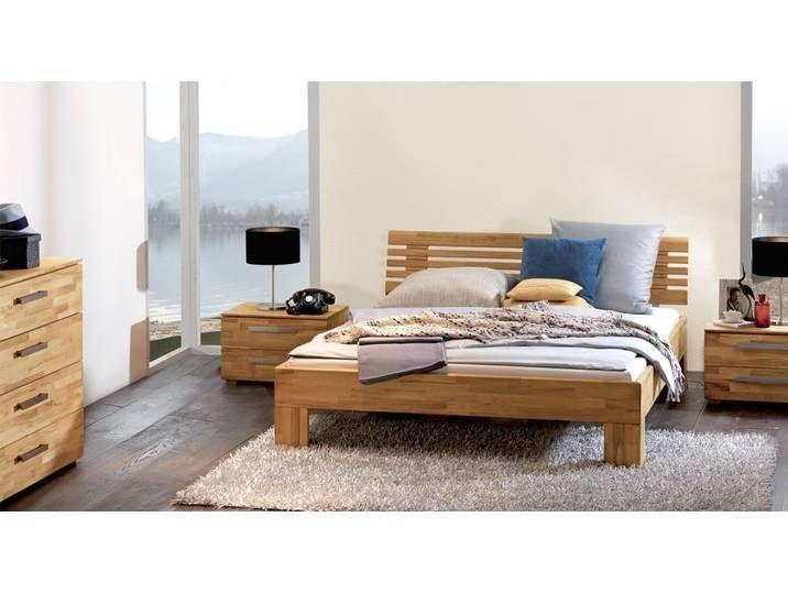 Bett La Gomera 160x220 Cm Buche Natur Fusshohe 30 Cm Massivholz In 2020 Bett Holz Bett Ikea Bett