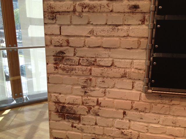 Wandgestaltung mit Backstein Optik Ladrillo Wandgestaltung - steintapete beige wohnzimmer