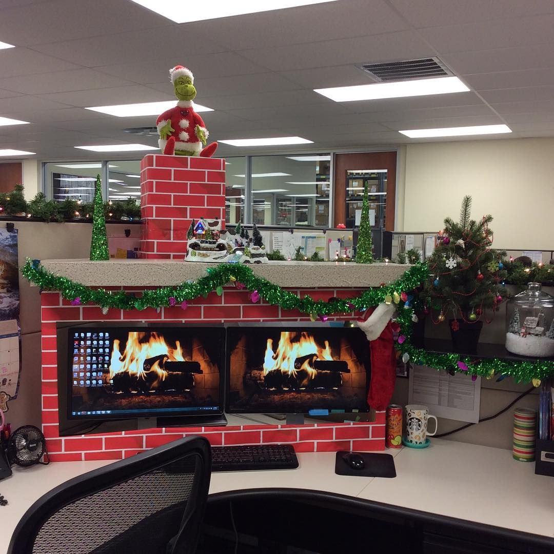 Tis The Season To Be Jolly! My Coworker & I Decorated Our