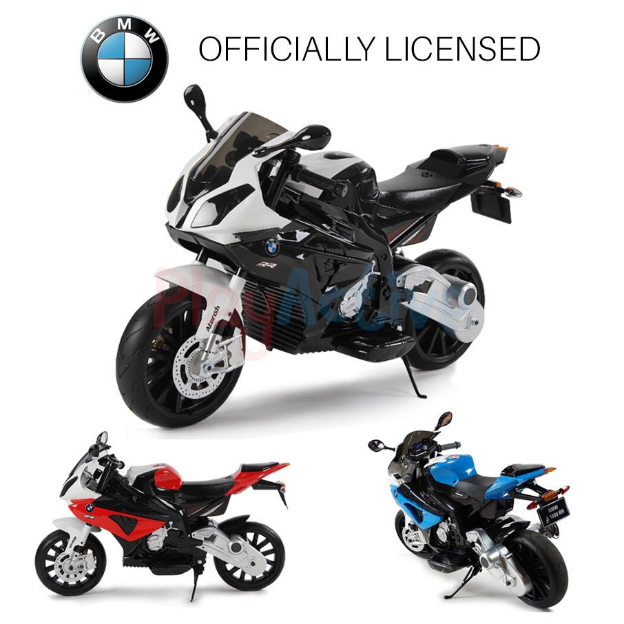 bmw s1000rr motorbike ride on 12v kids bike official licensed bmw