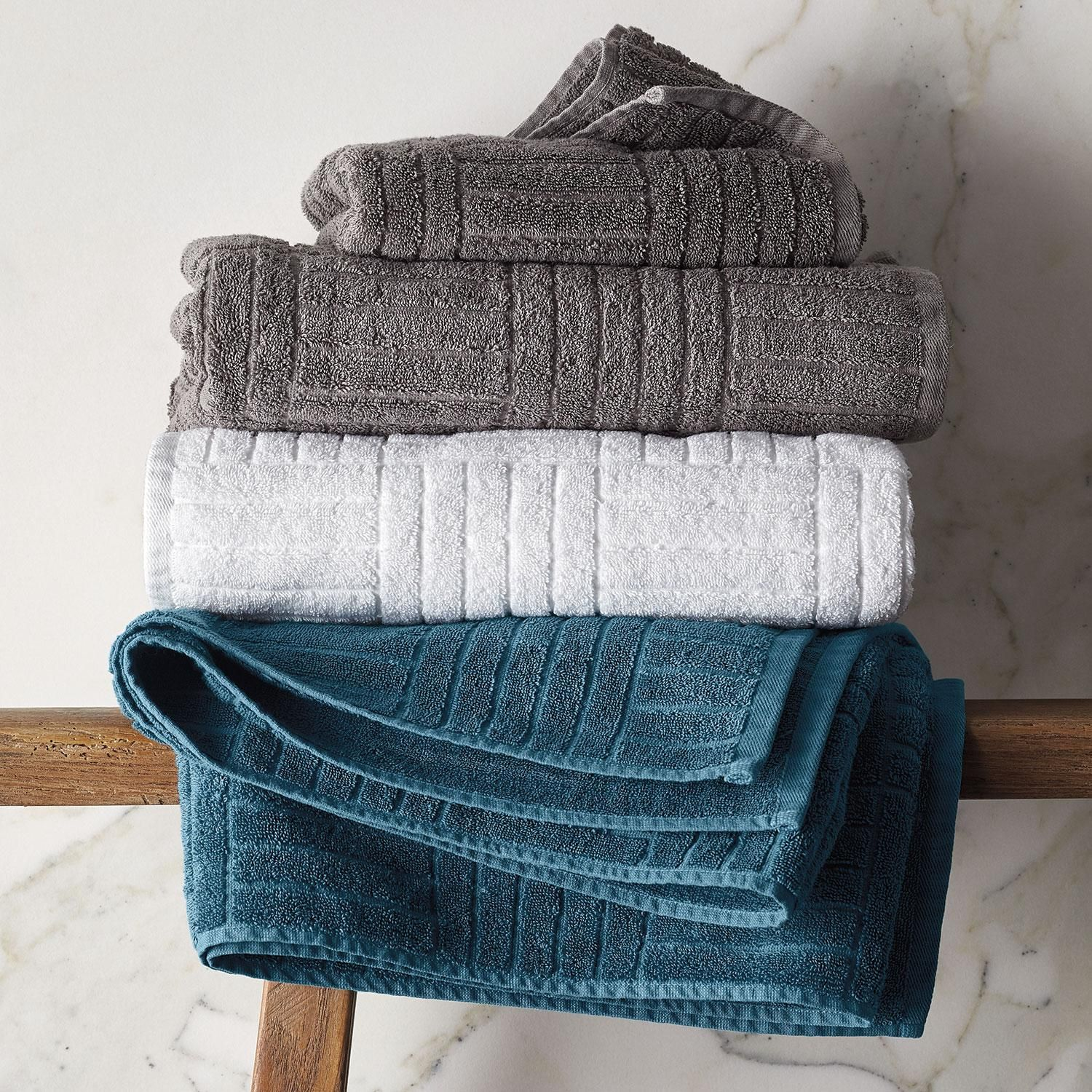 Interlock Egyptian Cotton Towel The Company Store in