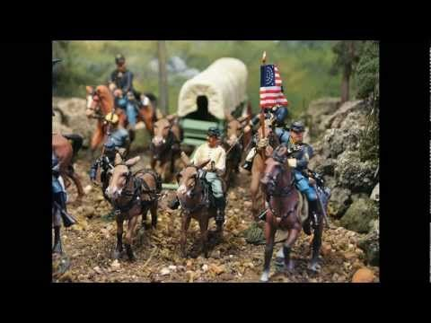 Military Miniatures - Gettysburg Battle Civil War Artillery and Cavalry Toy Soldiers