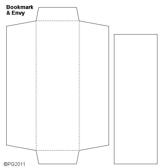 Envelope  Bookmark Template I Made  Paper Craft Templates By Pam