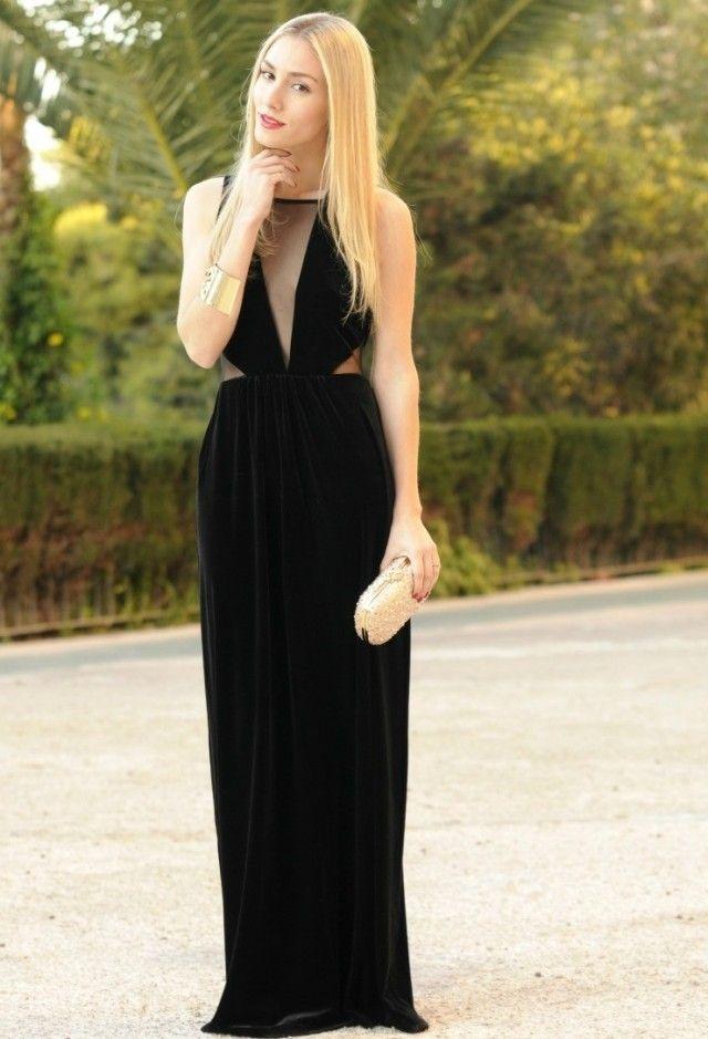Vestido negro elegante1