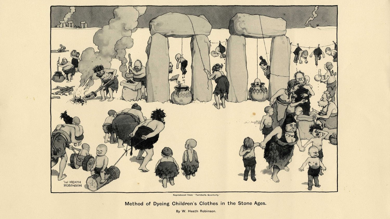 A new set of rare illustrations by Heath Robinson featuring his absurd contraptions is being showcased. See what's on show.