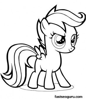 Printable My Little Pony Friendship Is Magic Scootaloo Coloring