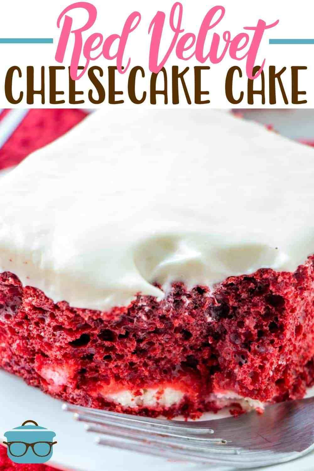 Red velvet cheesecake cake #redvelvetcheesecake