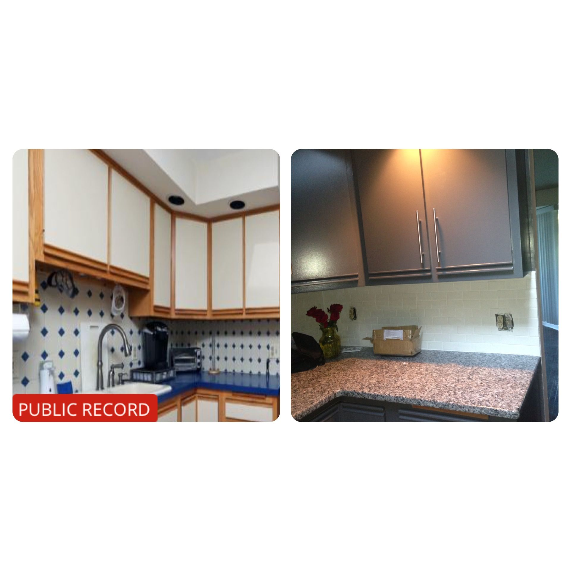 Refinishing Melamine Kitchen Cabinets: Ugly 80's Laminate Cabinet With Oak Trim Makeover On A