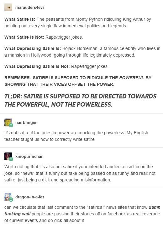 What Satire Is Vs What Satire Isn T Politics Opinions Similar