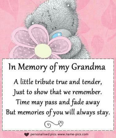 memories of my grandma