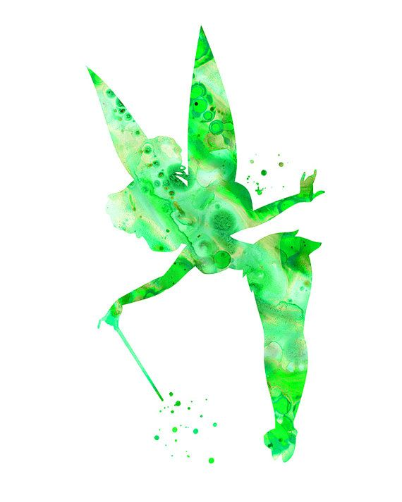 Green Tinkerbell Art Print Greentinkerbell By Fluiddiamondart