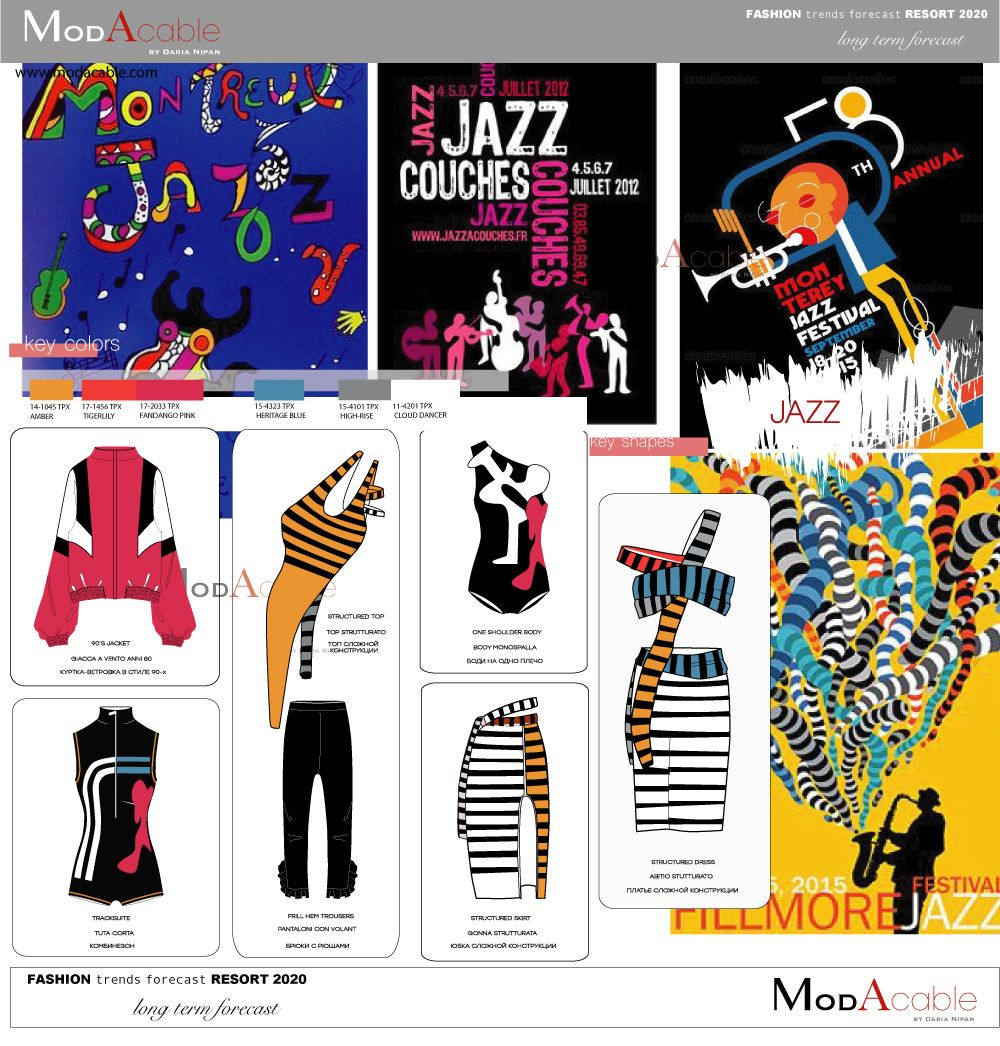 Fiction Trends 2020.Resort 2020 Fashion Trend Jazz Trend Ss2020 In 2019