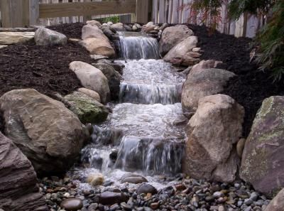 Aquatic passions pond less waterfall pond landscape for Pond waterfall construction