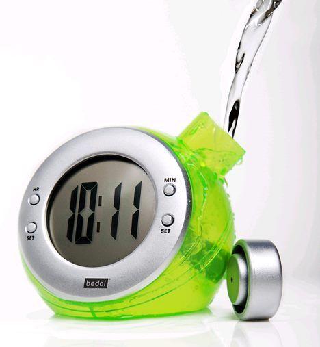 Water Powered Clock Horloge Idees Cadeaux Et Gadgets
