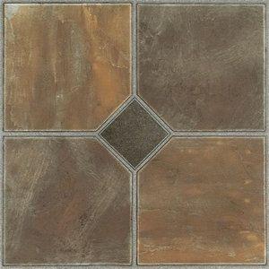 Achim Nexus Self Adhesive Vinyl Floor Tile 20 Tiles 20 Sq Ft 12 X 12 Rustic Slate Walmart Com Vinyl Flooring Vinyl Tile Flooring