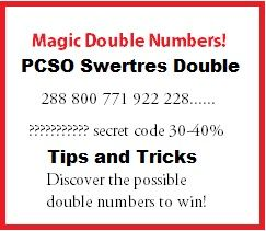 PCSO Swertres Double Number Combination | Swertres Tips To