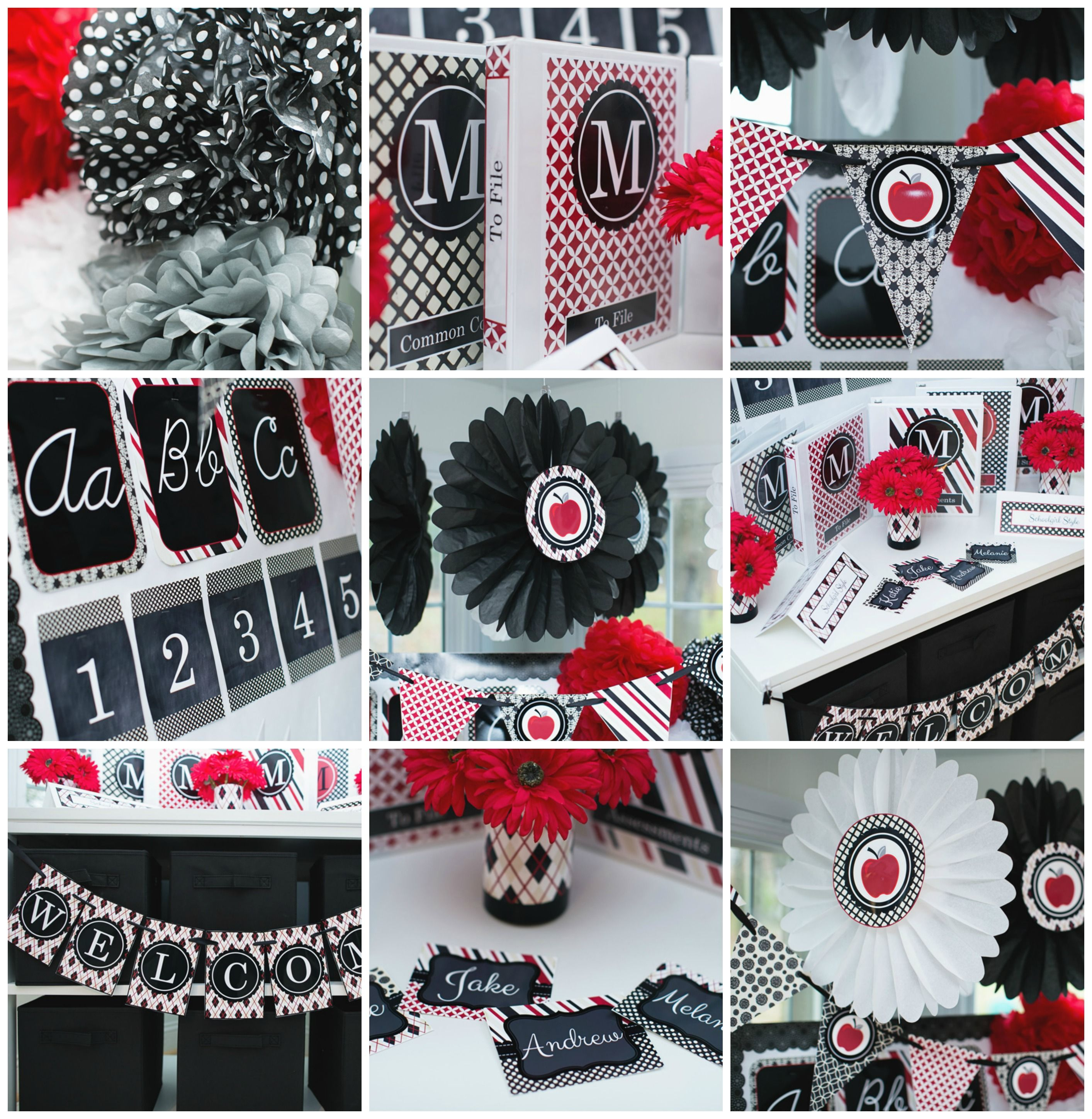 Red Black Le Clroom Theme And Decor By School Style
