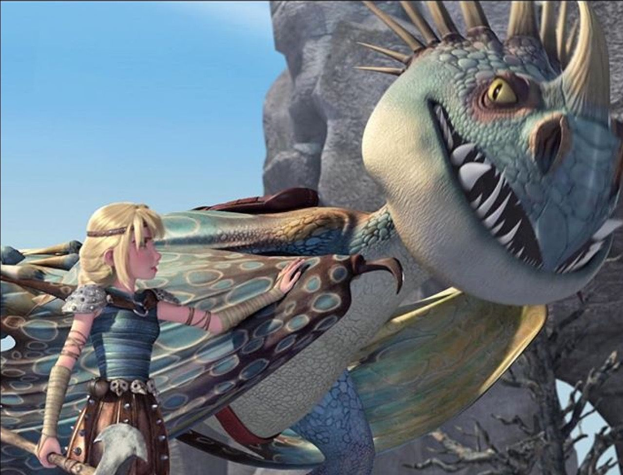 Astrid and Stormfly Dragons Race to the Edge