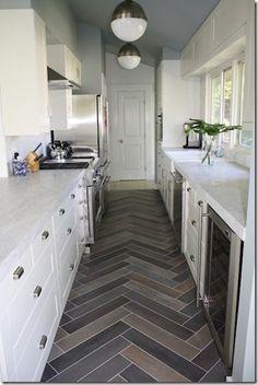 Herringbone Pattern Kitchen Floor Tile Google Search Kitchen