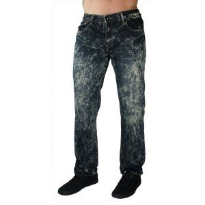 "F.U.S.A.I. Jeans Paint Splatter 32"" Inseam Distressed Denim Pants Mens Relaxed (Apparel)"