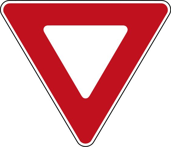 Lce Even In Canada Apparently This Is A Universal Yield Sign Yield Sign Toy Car Party Signs