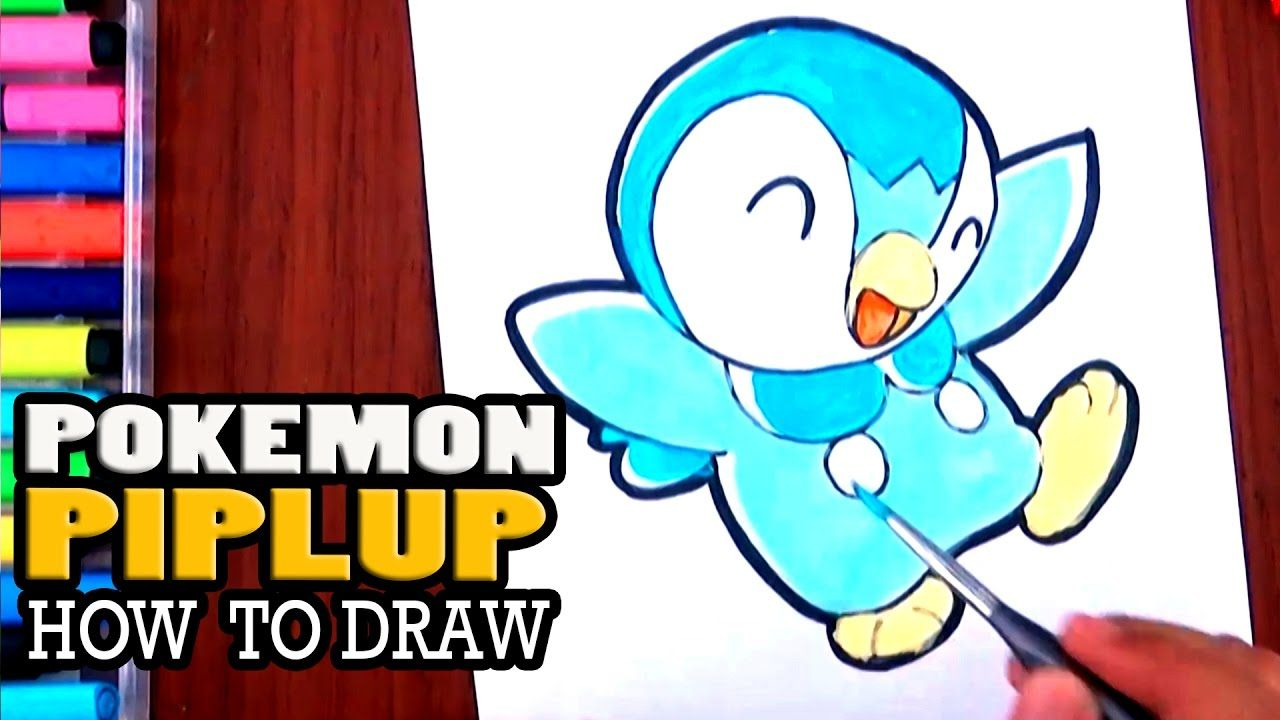 How To Draw PIPLUP Cute