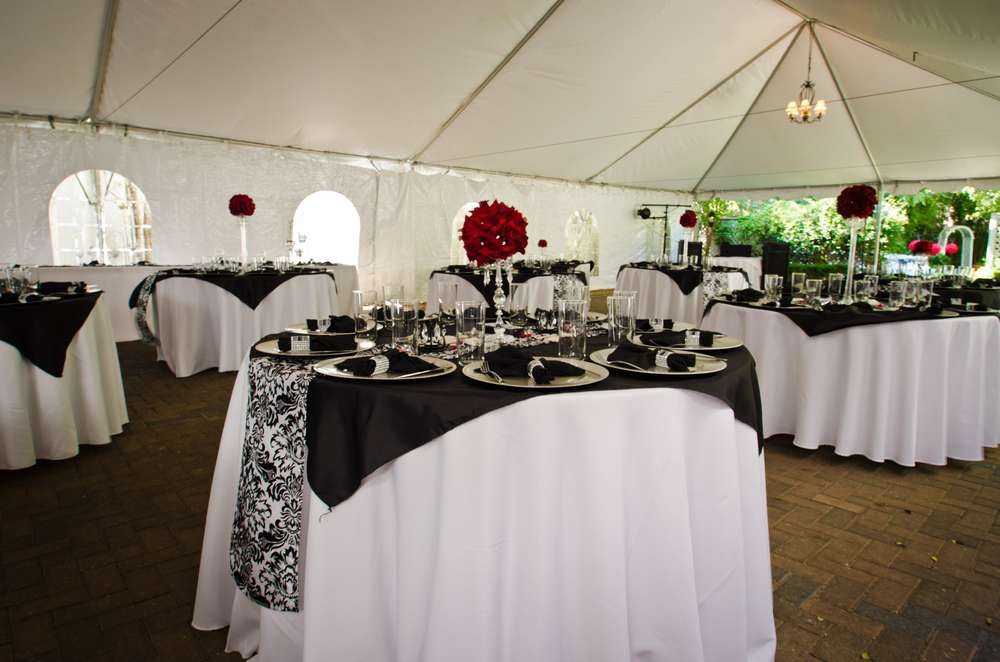 Black White Red Damask Wedding Party Ideas Wedding