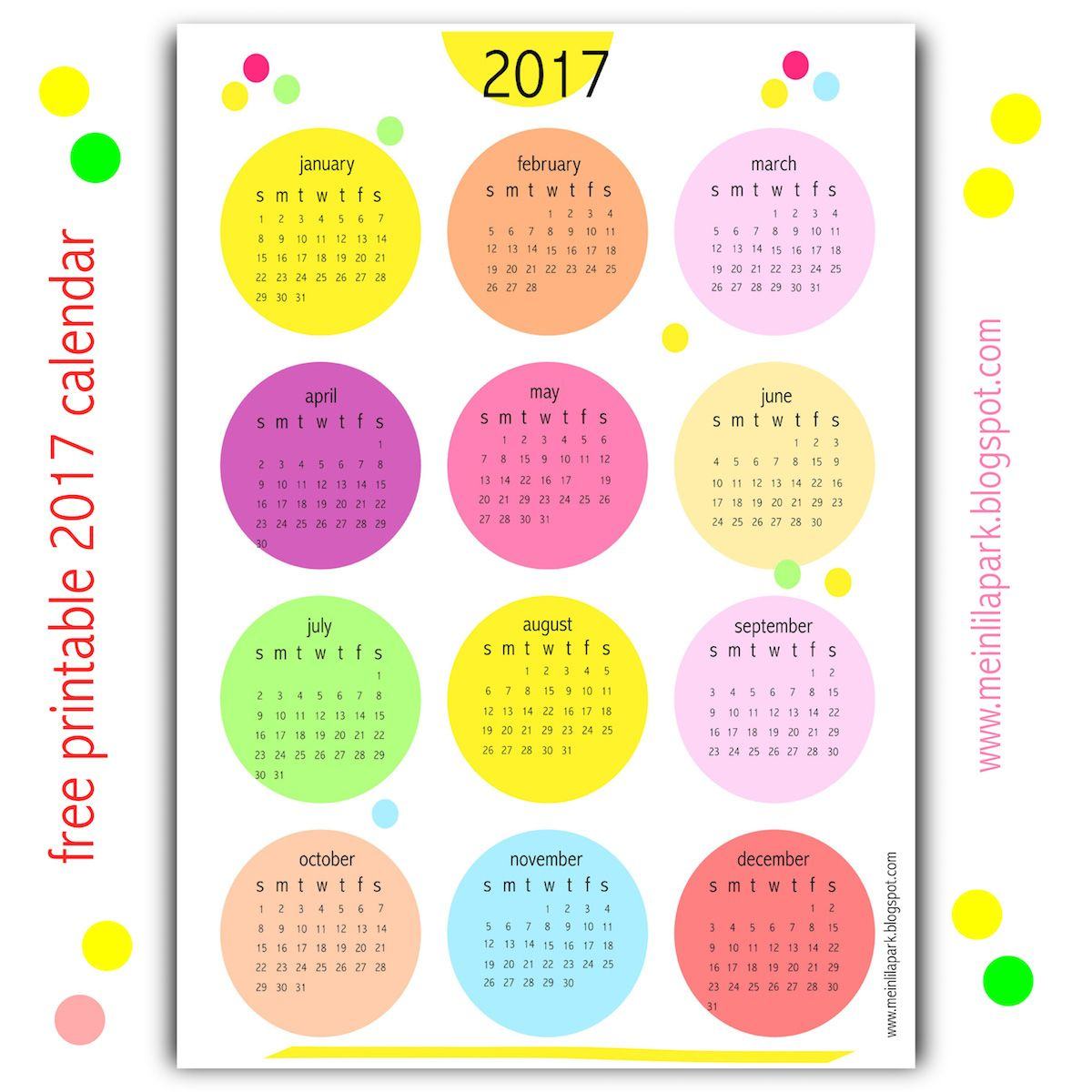 Yes I Created Another Free Printable  Calendar For You