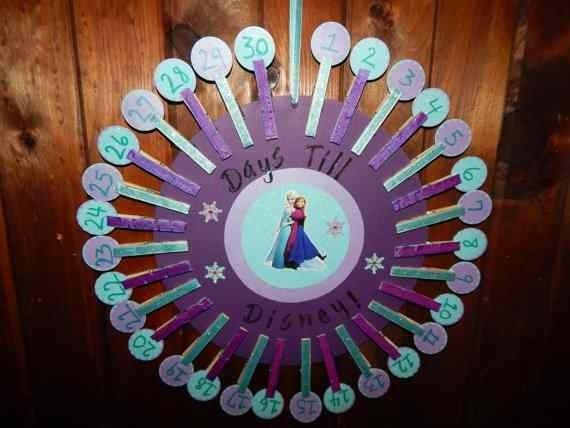 Fabulous Clothespin Printable Frozen Advent Calendar Templates