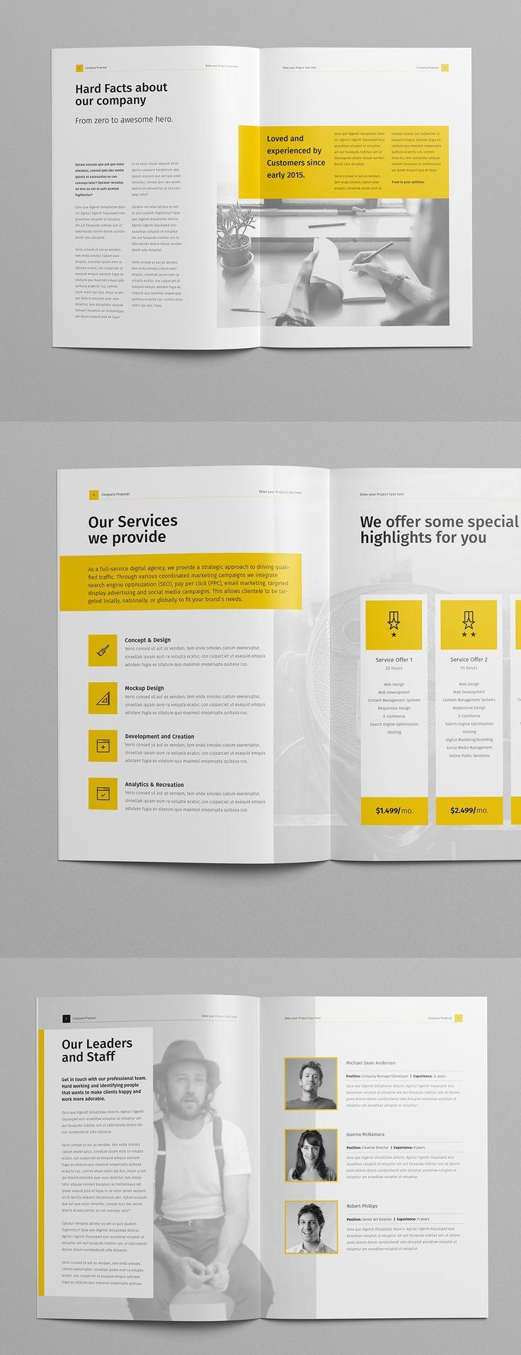 book design layout simple yellow pinterest design layout