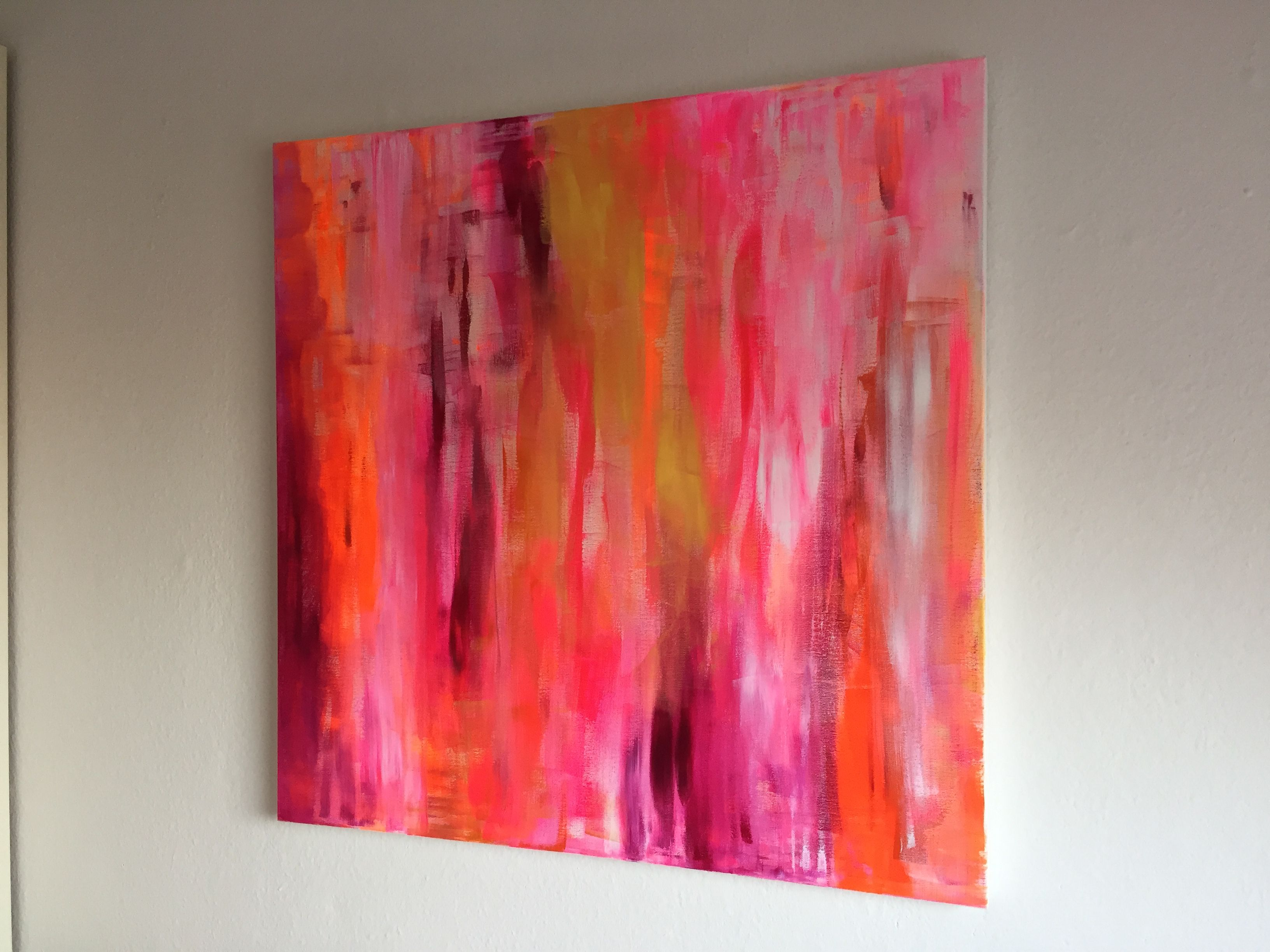 acryl auf leinwand 80x80 abstractart lebensfreude loveart neon abstrakte malerei abstrakt große bilder poster günstig
