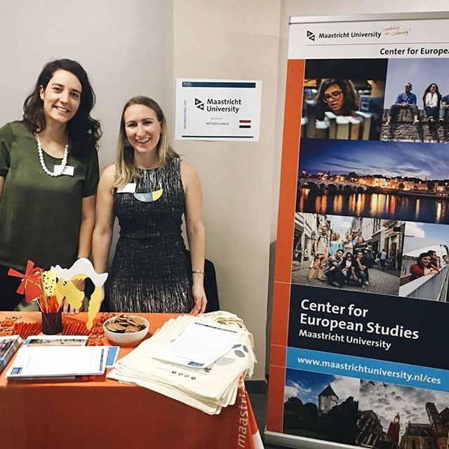 Today it's the staff who are playing #cesaround Aude and Sophie are set up at the Paris School of Business today.  Taking orders for macarons and 'pain au chocolat' via the comments :wink: