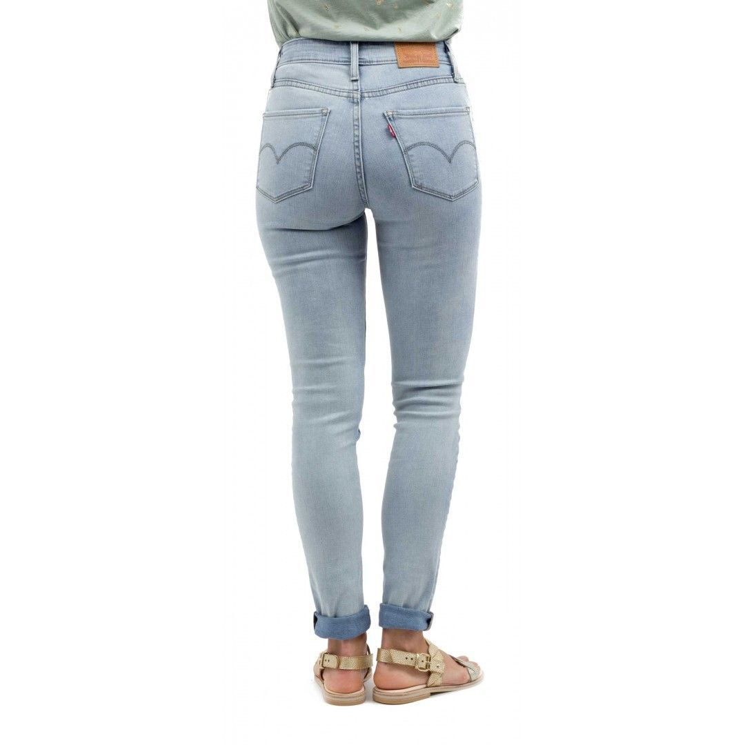 LEVI S Womens 721 0009 High Rise Skinny In Roadhouse Blue Stretch Denim  Jeans Size 28 X 32 Supernatural Style 884ddbfec72