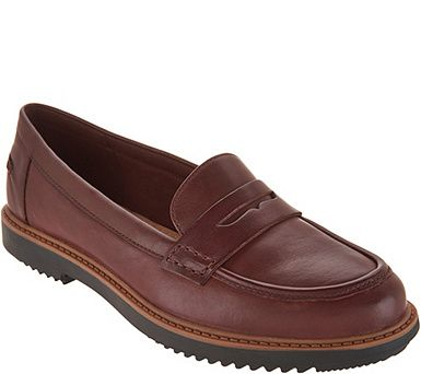 Clarks Leather Slip-on Loafers - Raisie Eletta - A294545