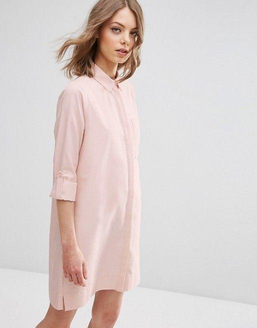 ASOS | ASOS - Robe chemise avec pattes (50.99€)